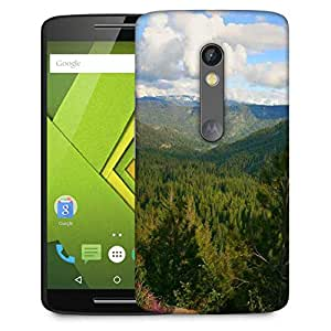 Snoogg Tall Trees In Forest Designer Protective Phone Back Case Cover For Moto G 3rd Generation