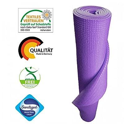 Yogamatte von KlarGeist® - kontrolliert und zertifiziert für Ihre Gesundheit - Oeko-Tex zertifiziert Pilatesmatte, Gymnastikmatte