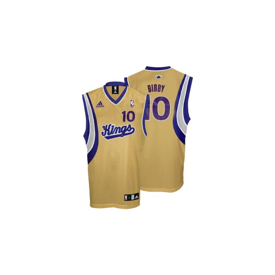 Mike Bibby Youth Jersey adidas Gold Replica #10 Sacramento Kings Jersey