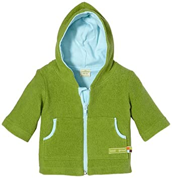 loud + proud Organic Cotton Teddy Fleece Jacket with Hood (Moss, 0-6 Months)