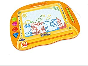 Lovely Rainbow Color Magnetic Drawing Doodle Board for Kids with 4 Shape Stampers