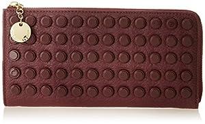 Ivanka Trump Caden Zip Around Wallet,Berry,One Size