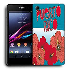 Snoogg Puerto Rice Printed Protective Phone Back Case Cover For Sony Xperia Z4