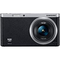 Samsung NX Mini 20.5MP CMOS Smart WiFi and NFC Compact Interchangeable Lens Digital Camera with 9-27mm Lens and 3-inch Flip-Up LCD Touchscreen (Black), 16GB Card