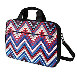 Meffort Inc 15 15.6 Inch Laptop Computer Shoulder & Hand Carrying Messenger Bag Briefcase - Colorful Chevron Pattern