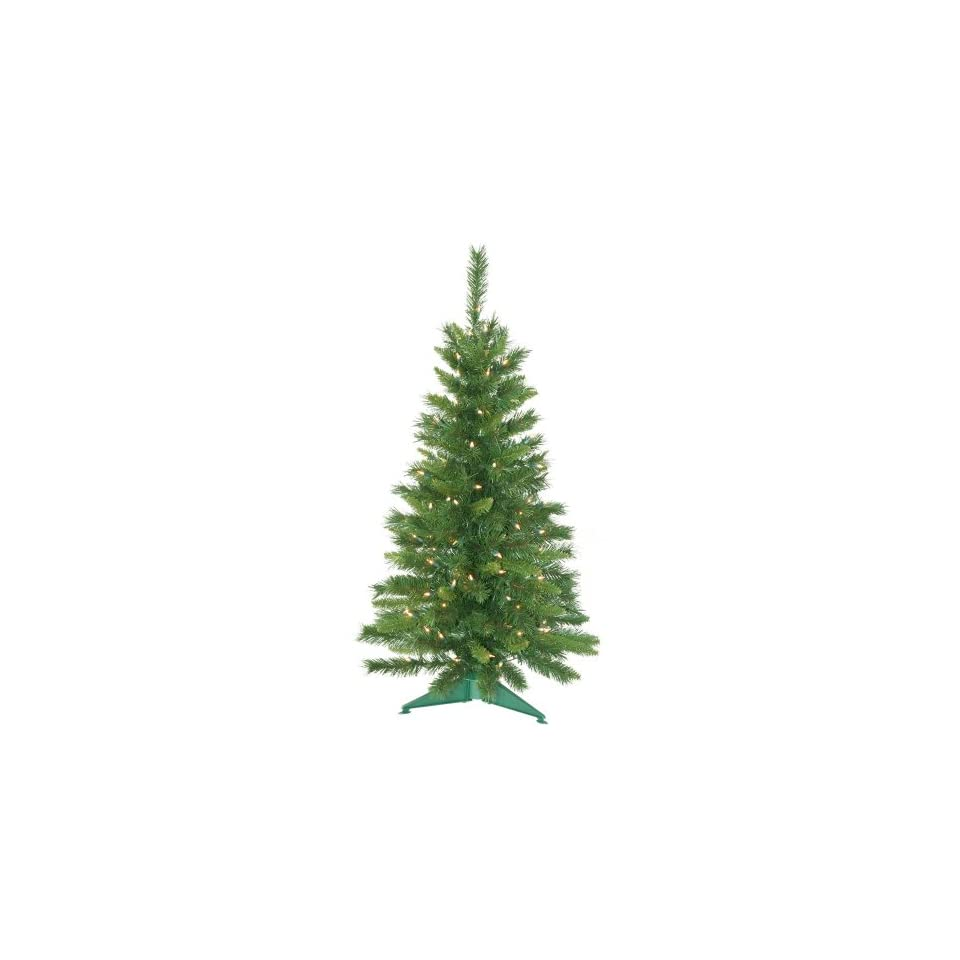 3.5 Pre Lit Imperial Pine Artificial Christmas Tree   Clear Lights