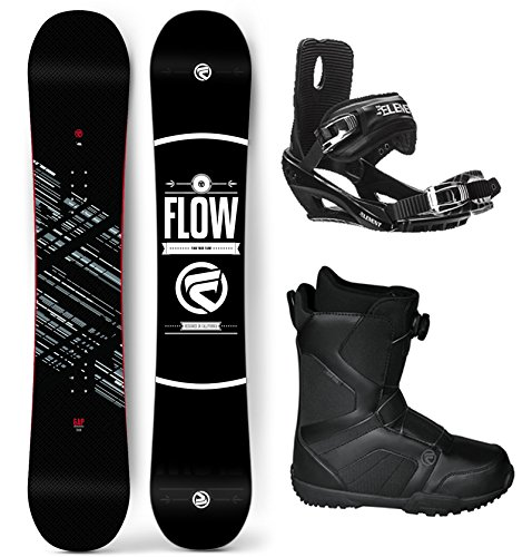 Flow 2017 Gap Men's Complete Snowboard Package Bindings BOA Boots - Board Size 154 (Boot Size 11) (Flow Snowboard Packages Mens compare prices)