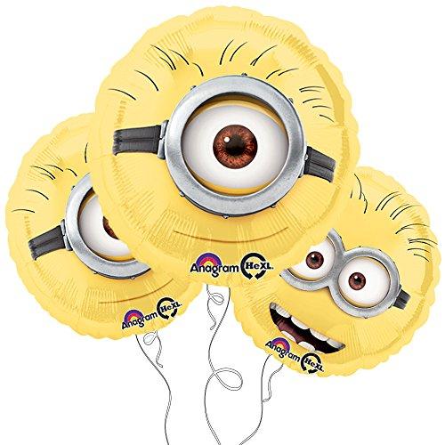 "Despicable Me Minion 18"" Round Mylar Balloon 3pk"