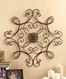 Square Scrolled Metal Wall Art Medallion