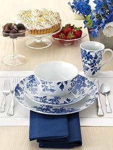 Paula Deen Signature Dinnerware Tatnall Street 4-Piece Dinnerware Place Setting, Bluebell