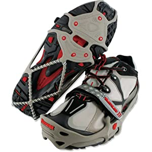 Buy Brand New Yaktrax Run Size Large Gray Red Fits W13-15 by YakTrax
