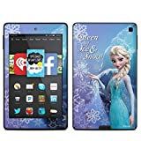 Queen of Ice and Snow Design Protective Decal Skin Sticker for Amazon Kindle Fire HD 6 (2014) (Matte Satin)