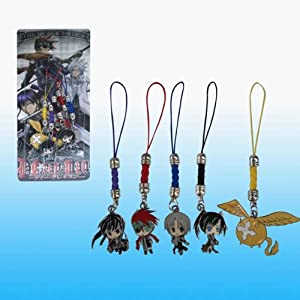 D. Gray Man Straps & Charms, a Set of 5 Pieces, Selection May Vary.
