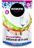 Ecozone Dishwasher Tablets x 25 (Pack of 2, Total 50 Tablets)