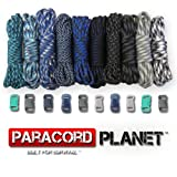 Paracord Planet 550lb Type III Paracord Combo Crafting Kits with Buckles (WINTER)