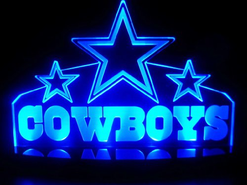"Nfl Dallas Cowboys Led Desk Lamp Night Light Beer Bar Bedroom Gameroom Signs (Small 3""X12""X7 Inch)"