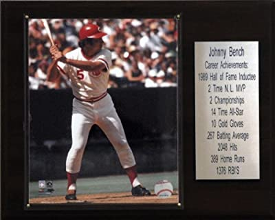 MLB Johnny Bench Cincinnati Reds Career Stat Plaque