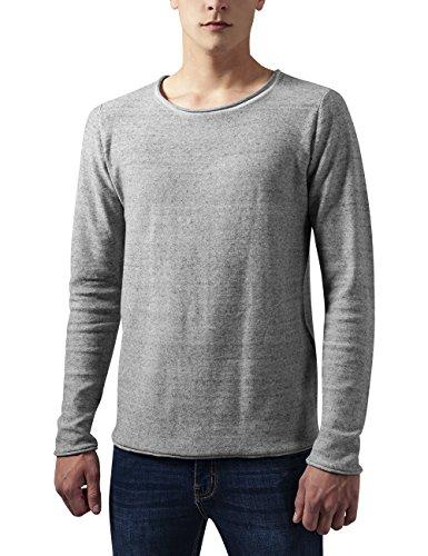 Urban Classics Fine Knit Cotton Sweater, Felpa Uomo, Grau (Grey Melange 735), Small