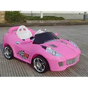 NEW MODEL PINK RIDE ON CAR WITH REMOTE CONTROL AND MP3 CONNECTION(106)