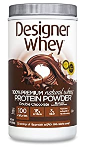 DESIGNER WHEY 100% Premium Whey Protein Powder, Double Chocolate, 32 Ounce Container