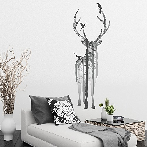 vc-designs-ltd-tm-large-stylish-stag-in-the-woods-vinyl-wall-sticker-decal-wall-art-decoration-mural