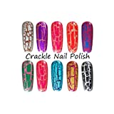 2012 Cracked Crackle Glaze Nail Polish, Color Purple Plum 