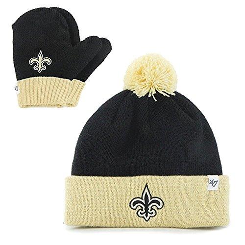 """New Orleans Saints Infant toddler """"Bam Bam"""" Beanie Hat POM"""