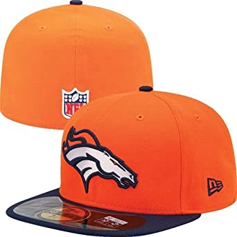 NFL Mens Denver Broncos On Field 5950 Orange Game Cap By New Era by New Era