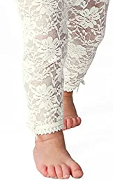 Baby Emporio - Baby Girl Lacy Leggings (12-24 months, Off-White)