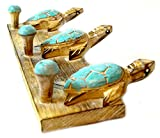Hand-Carved-TURTLES-towels-beach-Hanger-Holder-Surfboard-Wooden-Wall-Hanging-Art-Sign-Tiki-Bar