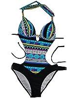 Sexy Womens One Piece Monokini Swimwear Ethnic Style Swimsuit Beach Wear