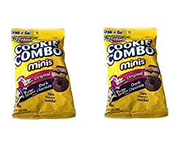 Cookie Combo Minis Fudge Stripes Original and Dark Chocolate (Pack of 2)