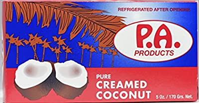 PA Products Coconut Cream - 5 oz Bar of Pure Creamed Coconut