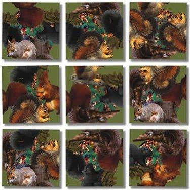 Scramble Squares Puzzle Squirrels - 1