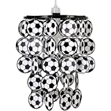 MiniSun - Boys Black And White Football Bedroom/Nursery Ceiling Pendant Light Shade