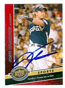 Josh Hamilton autographed Baseball Card (Texas Rangers) 2009 Upper Deck 20th... by Autograph Warehouse