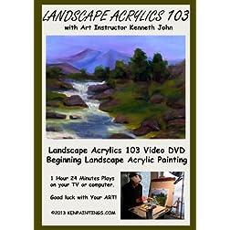 Landscape Acrylics Painting 103