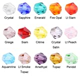 Beadnova Wholesale Mix Lot 1500 pcs Bicone 4mm #5328 Xillion Bicone Crystalized Crystal Glass Beads For Jewelry Making Findings with Container Box