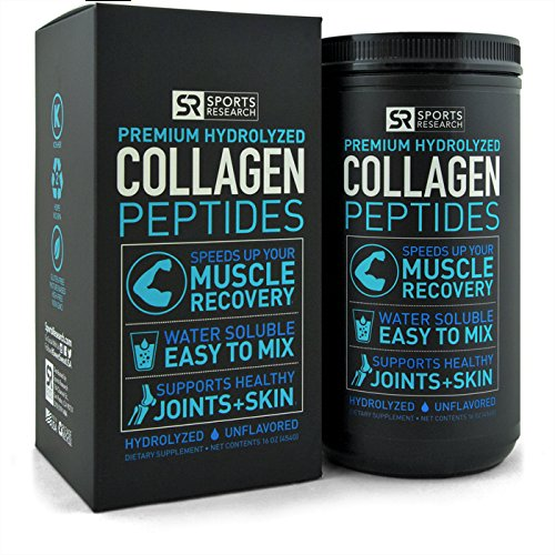 Premium Collagen Peptides (16oz) | Certified Paleo Friendly, Non-Gmo and Gluten Free - Unflavored, Odorless and Easy to Mix