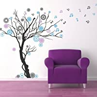 Pop Decors Removable Vinyl Art Wall Decals, Music Tree