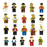 CrenTM Lot of 20 New Minifigures Figures Men People Minifigs