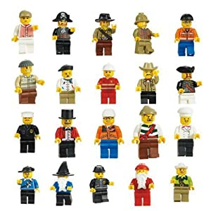 Cren Lot of 10 New Minifigures Figures Men People Minifigs