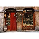 (24x36) Bicycle Parked Outside Historic Food Store, Siena, Tuscany, Italy Photo Poster