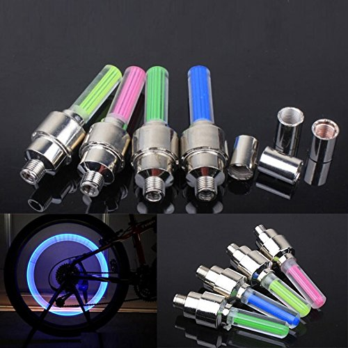 Mountain Bike Cycle Nozzle Tyre Tire Valve Wheel Led Light Flashlight Lamp