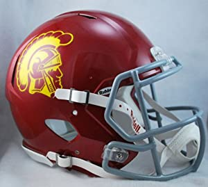 Buy NCAA Riddell USC Trojans Revolution Speed Full-Size Authentic Football Helmet by Riddell