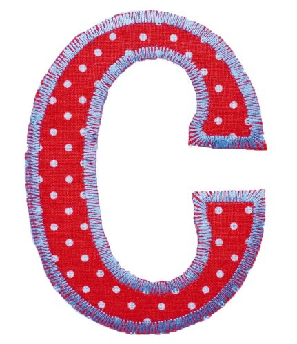 Fabric Letters For Crafts - Trickyboo C Retro 4-5Cm - Nursery Ideas-Nursery Hanging Letters-Nursery Block Letters-Block Letters For Nursery-Decorative Letters For Nursery front-60053