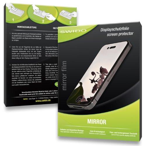 2 x SWIDO Mirror Spiegel-Displayschutzfolie für Olympus Mju 300 Digital / Mju300 - Displayschutz vollverspiegelt und hartbeschichtet! PREMIUM QUALITÄT - Made in Germany