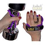 Women's PRO Purple Style Training Workout Grip Gloves 1 Pair / 2 Pads | Gym Glove Alternative | Grip Power Pads...