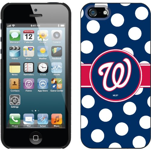 Great Price Washington Nationals - Polka Dots design on a Black iPhone 5s / 5 Thinshield Snap-On Case by Coveroo