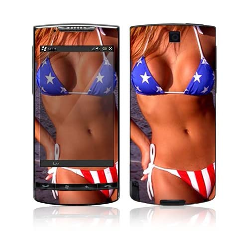 US Flag Bikini Protective Skin Cover Decal Sticker for HTC Pure Cell Phone